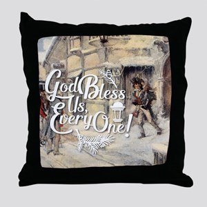 God Bless Us Every One! Throw Pillow